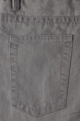 Back pocket gray denim pants