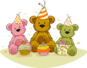 Canvas Prints Bears Bear Birthday,