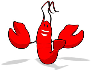 Homard cartoon