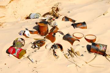 pollution du Sahara