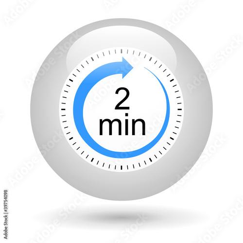 Bouton ic ne minuterie 2 minutes photo libre de droits sur la banque d 39 images - Minuteur 7 minutes ...