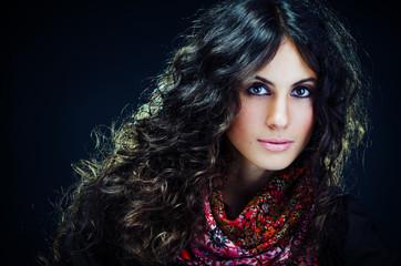 Portrait of a beautiful brunet lady