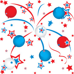 fireworks and balloons
