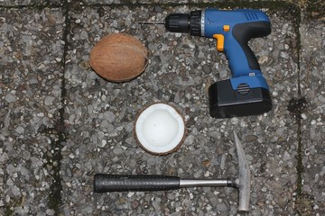 coconut opening tools