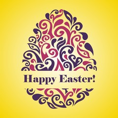 Easter greeting postcard