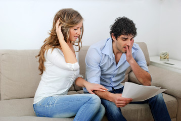 Young Couple Dealing with Their Finances