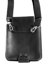 Black leather male bag