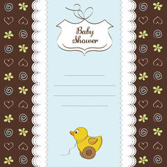 baby shower card with duck