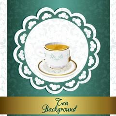 Tea backgroun vintage
