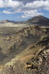 Paysage volcanique sur l'île de Lanzarote, Espagne.