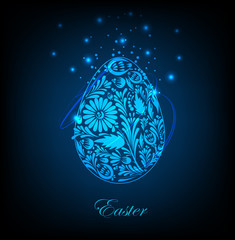 Abstract easter egg. Vector