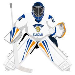 Team Finland hockey goalie