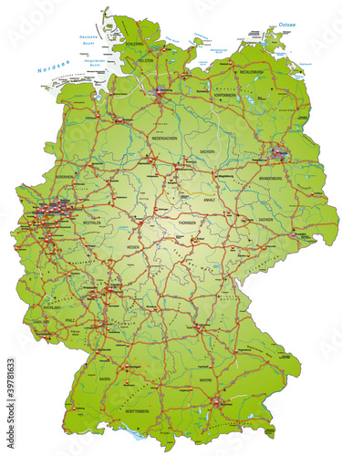 autobahn karte Autobahnkarte von Deutschland
