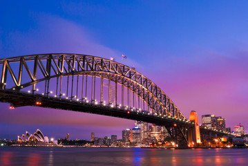 Photo sur Plexiglas Sydney Sydney habour bridge - sydney city