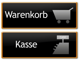 WArenkorb & Kasse Button - elegant Black Edition