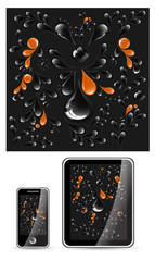 Abstract dark background for device set vector