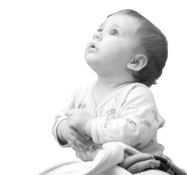 Praying baby girl