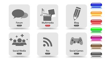 social - web elements