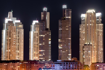 Wall Mural - Skyscrapers at night