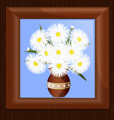 frame and daisies