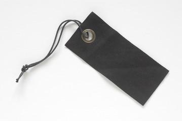 Black fabric tag