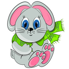cartoon bunny. animal zoo illustration