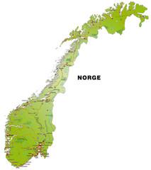 Inselkarte von Norwegen mit Autobahnen