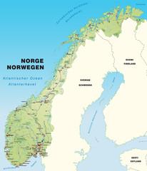 Norwegenkarte mit Autobahnen