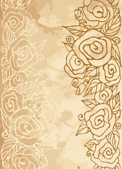 Romantic vintage rose background. Eps 8.