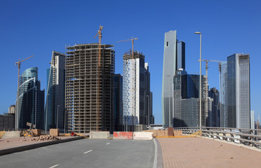 Skyscrapers at the Business Bay in Dubai, UAE