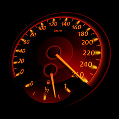 Speedometer. Vector illustration