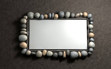 Hanging Stone Picture Frame