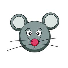 cartoon mouse face
