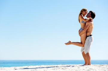 island hugging couple
