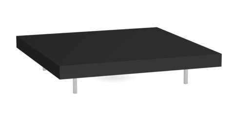 3d render of coffee table