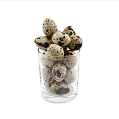 Glass with quail eggs