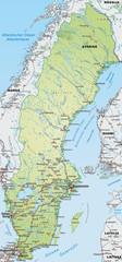 Schwedenkarte mit Autobahnen