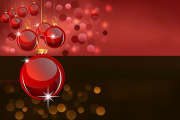 Background of christmas balls