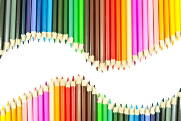 Colorful pencil texture background.