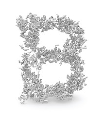 Shape of letter B made from 3d letters