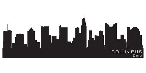 Fototapete - Columbus, Ohio skyline. Detailed vector silhouette