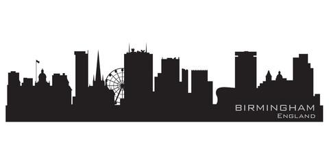 Birmingham, England skyline. Detailed vector silhouette