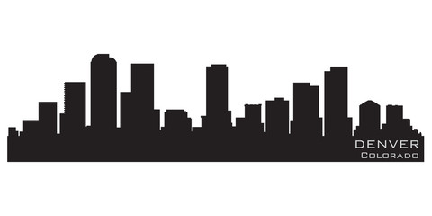 Wall Mural - Denver, Colorado skyline. Detailed vector silhouette