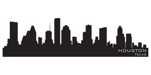 Fototapete - Houston, Texas skyline. Detailed vector silhouette