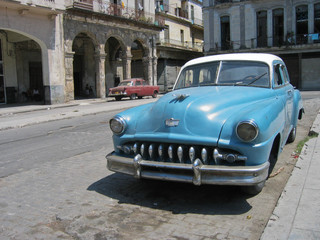 Foto op Aluminium Cubaanse oldtimers Oldtimer, Havanna,Kuba