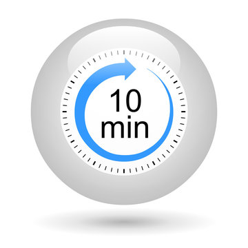 Bouton icône minuterie - 10 minutes