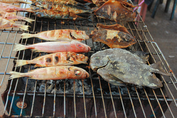 Grilled Fish in Thai style