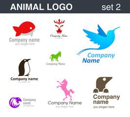 Abstract logo. Animal logotypes.