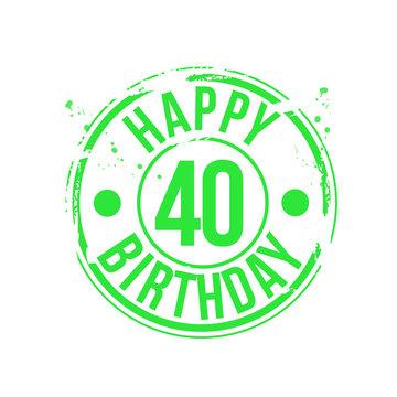 timbre anniversaire 40 ans