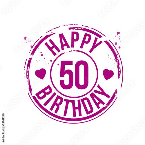 timbre anniversaire 50 ans fichier vectoriel libre de droits sur la banque d 39 images fotolia. Black Bedroom Furniture Sets. Home Design Ideas